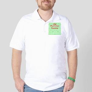 funny cnc machinist Golf Shirt