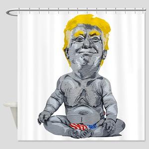dump trump baby Shower Curtain
