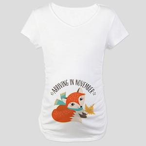 88610b6b90193 November Due Date. Fox November Maternity Maternity T-Shirt