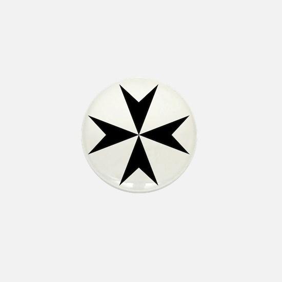 Cross of Malta - Black Mini Button