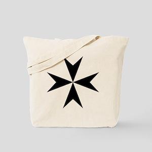 Cross of Malta - Black Tote Bag