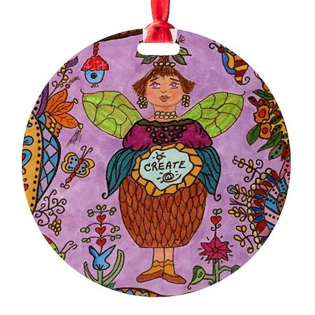 Fairy Of CREATE Round Ornament