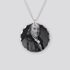 Benjamin Franklin by RW Dods Necklace Circle Charm