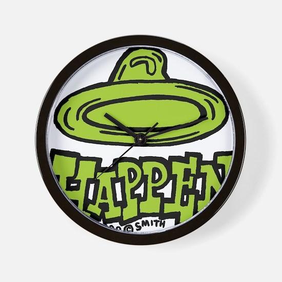 condom_happen_right_green Wall Clock