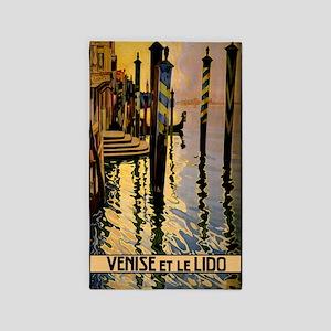 Vintage Venice Italy Travel 3'x5' Area Rug