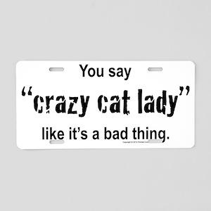 catlady-1 Aluminum License Plate