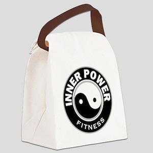 IPBWRoundBlk Canvas Lunch Bag