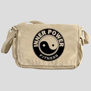 IPBWRoundBlk Messenger Bag