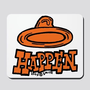 condom_happen_right_orange Mousepad
