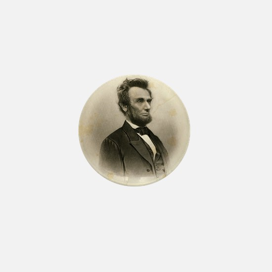Portrait of Abe Lincoln-Edit Mini Button