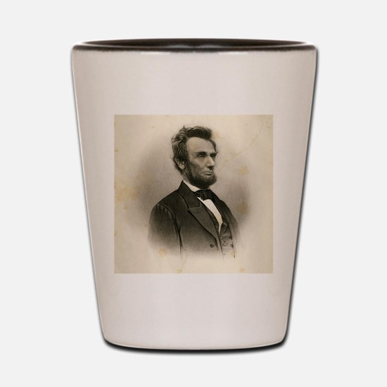 Portrait of Abe Lincoln-Edit Shot Glass