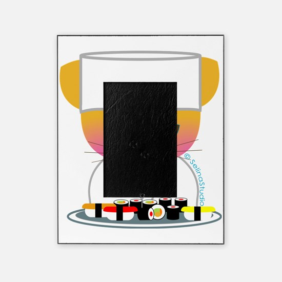 sushi chef cat Picture Frame