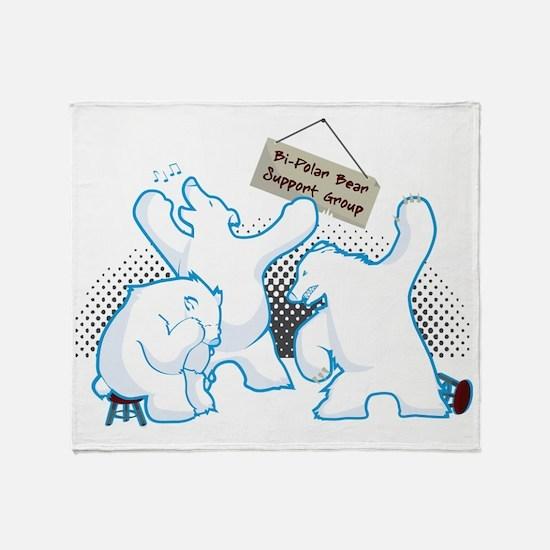 bipolar_bear Throw Blanket