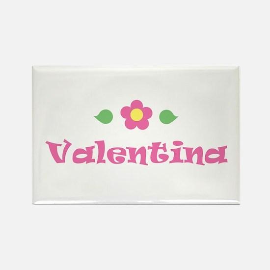 "Pink Daisy - ""Valentina"" Rectangle Magnet"