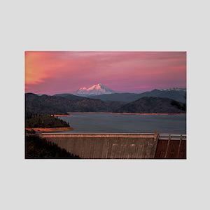 Mt. Shasta at Sunset Rectangle Magnet