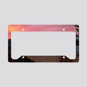 Mt. Shasta at Sunset License Plate Holder