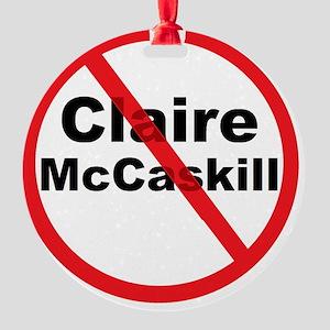 1Claire McCaskill Round Ornament