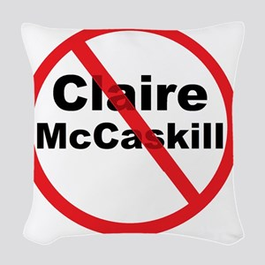 1Claire McCaskill Woven Throw Pillow