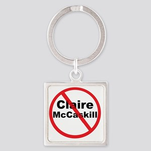 1Claire McCaskill Square Keychain