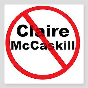 "1Claire McCaskill Square Car Magnet 3"" x 3"""