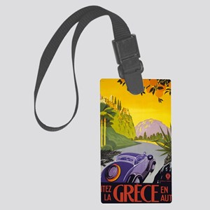 Greece Travel Large Luggage Tag