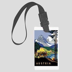 Austria Band Large Luggage Tag
