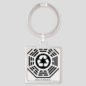 dharmarecycle-01 Square Keychain