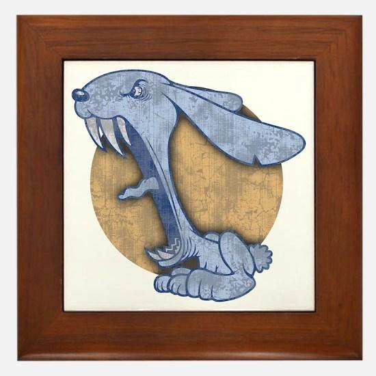 bunny-evil-BLU-T Framed Tile