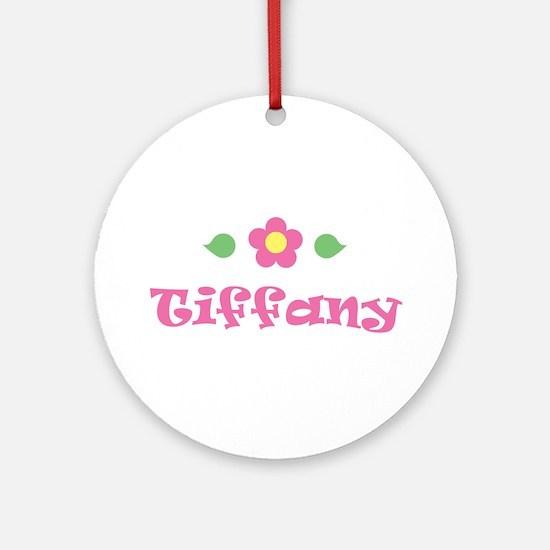 """Pink Daisy - """"Tiffany"""" Ornament (Round)"""