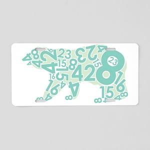 Number Bear Aluminum License Plate
