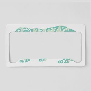 Number Bear License Plate Holder