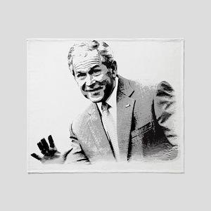 President George. W. Bush Sketch Throw Blanket