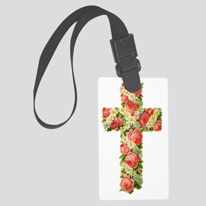 Floral Cross TRANS 54 Large Luggage Tag