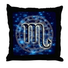 Astro Symbol Scorpio Throw Pillow