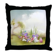 Easter Bunnies Throw Pillow