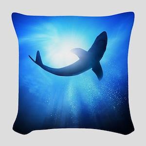 Shark Woven Throw Pillow