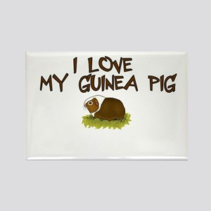 Guinea Pig Love Rectangle Magnet