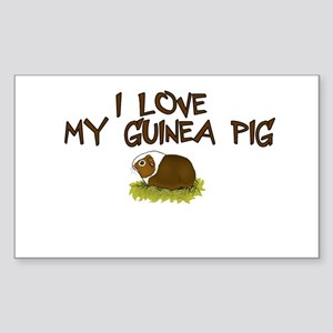 Guinea Pig Love Rectangle Sticker