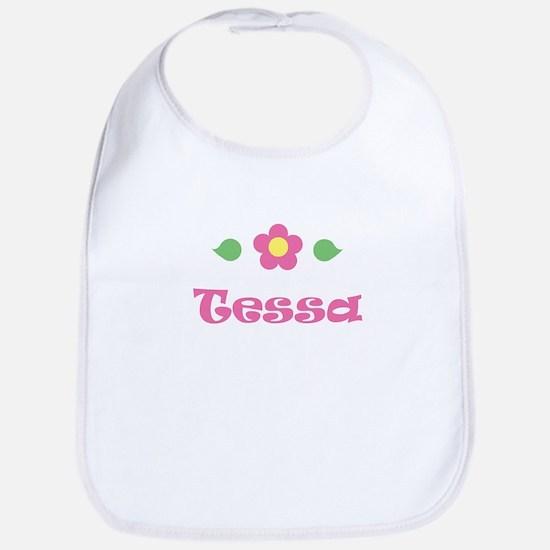 """Pink Daisy - """"Tessa"""" Bib"""