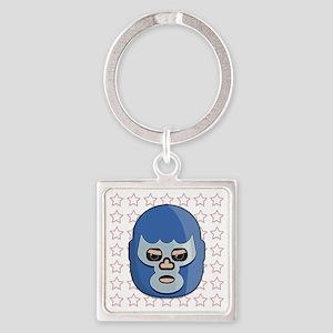 lucha libre blue demon tshirt Square Keychain