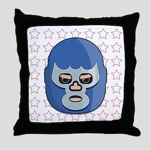 lucha libre blue demon tshirt Throw Pillow