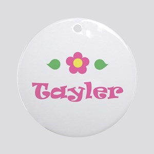 """Pink Daisy - """"Tayler"""" Ornament (Round)"""