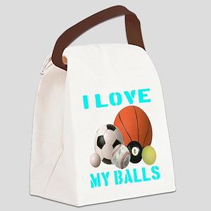 ilovemy_balls_transparent Canvas Lunch Bag