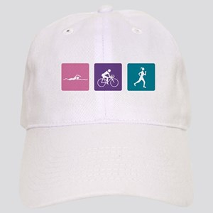 girls tri harder_dark Cap