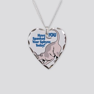Spank your Sphynx Spotted Necklace Heart Charm