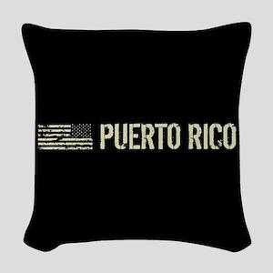 Black Flag: Puerto Rico Woven Throw Pillow