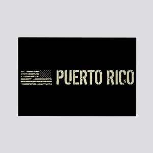 Black Flag: Puerto Rico Rectangle Magnet