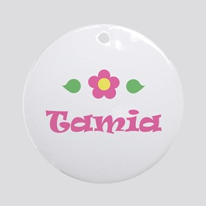 "Pink Daisy - ""Tamia"" Ornament (Round)"