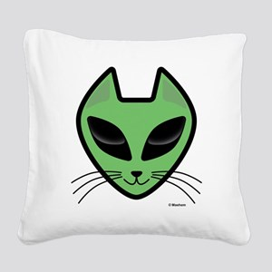 AlienKitty Square Canvas Pillow