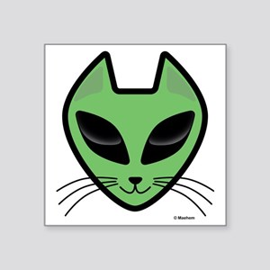 "AlienKitty Square Sticker 3"" x 3"""